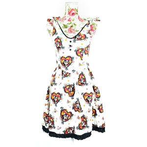 The Book Of Life La Muerte All Over Print Dress
